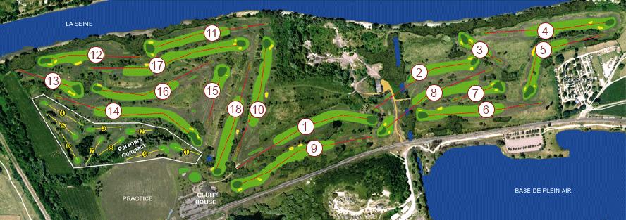 Les parcours du golf de Léry-Poses