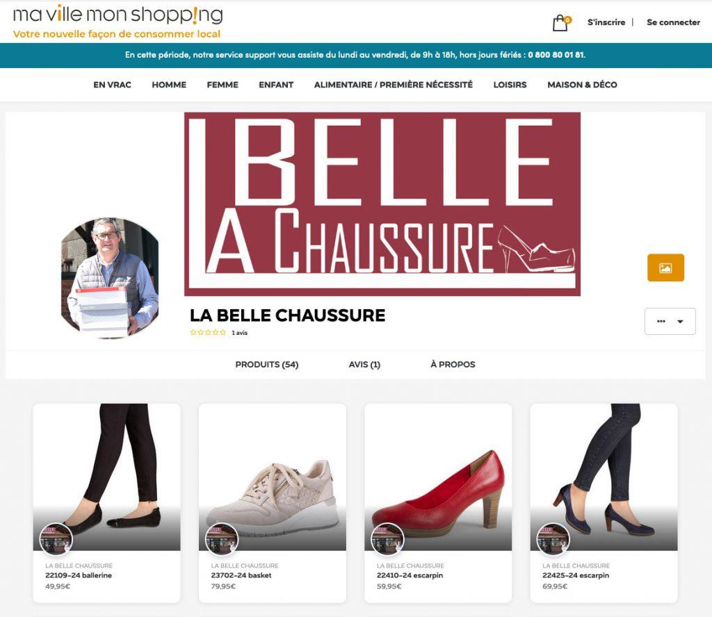 Nouveau site internet pour La Belle Chaussure : Ma ville, mon shopping