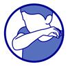 Gestes barrière : toussez ou éternuez dans votre coude
